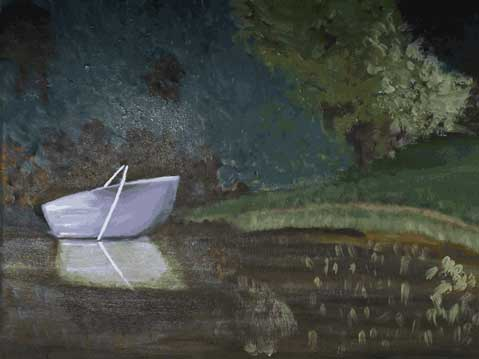 Landscape with the boat