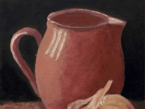 Still life with the jug and garlic, after Will Kemp