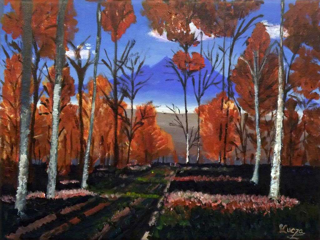 Autumn - Acryilic on canvas by Andipainting